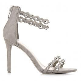 GREY SANDALS WITH ORNAMENTS