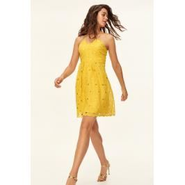 Trendyol Yellow Lace Detail Dress