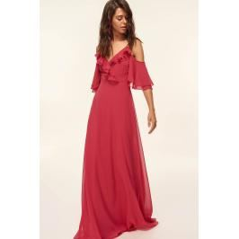 Trendyol Fuchsia Shoulder Lace Dresses Evening Dresses Dress Up