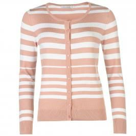 Full Circle Stripe Button Cardigan dámské