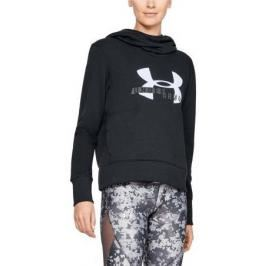 Mikina s kapucňou Under Armour Cotton Fleece Sportstyle Logo hoodie 1321185-001 velikost M
